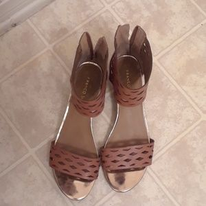 Franco Sarto camel colored shoes